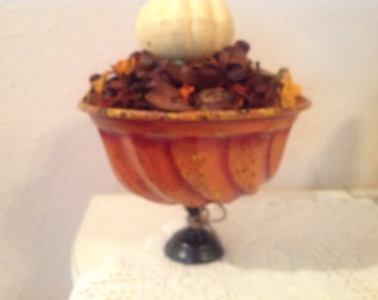 Fall UpCycled Centerpiece. Table Decoration Mantle Decor Shelf Setter Holiday Decor Home Decor Housewarming Gift  Fall Decor