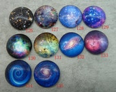 5 pcs 25mm transparent round stars milky ways photo glass cabochons cameo cabs fc9126135