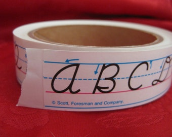Vintage Penmanship Cursive Letter Formation Sticker Roll