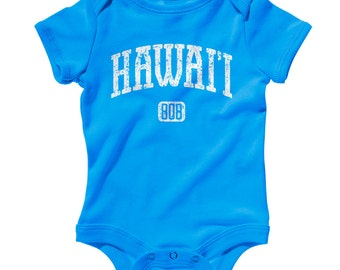 Baby Hawaii 808 Romper - Infant One Piece - NB 6m 12m 18m 24m - Hawaii Baby, Honolulu Baby, Maui, Oahu, Kauai - 3 Colors