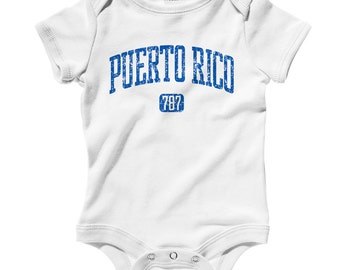 Baby Puerto Rico 787 Romper - Infant One Piece - NB 6m 12m 18m 24m - Puerto Rico Baby, Boricua Baby, Taino, Coqui - 3 Colors