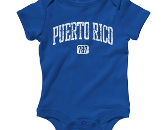 Baby Puerto Rico 787 Romper - Infant One Piece - NB 6m 12m 18m 24m - Puerto Rico Baby, Boricua Baby, Taino, Coqui - 4 Colors