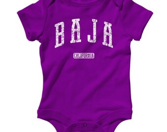 Baby Baja California Romper - Infant One Piece - NB 6m 12m 18m 24m - Baja California Baby, Tijuana, Mexicali, Ensenada, Mexico - 3 Colors