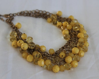 Vintage Yellow Cha Cha Necklace