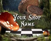 Basic Custom Etsy Shop Banner Set (Pre-made) - Wonderland 2