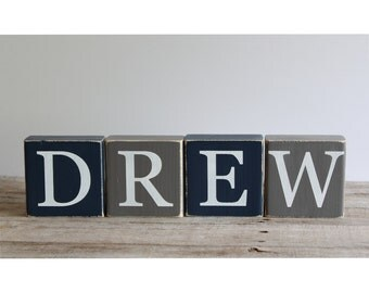 letter blocks rustic nursery name baby name blocks family name blocks alphabet blocks custom wooden block letters wood blocks