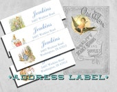 "Printed Return Address Labels ""The Tale of Peter Rabbit"" - Baby Shower - 3 x 1 inch Sticker - Custom Personalized Printed Labels"