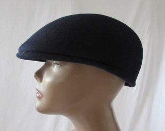 Vintage Newsboy Cap Wool  made in the Czech Republic