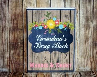 Personalized Photo Album, Photo Album, Custom Photo Album, Grandma's Brag Book, Rustic Photo Album