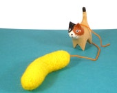 Vibrio Bacteria Science Catnip Cat Toy - Needle Felted Wool