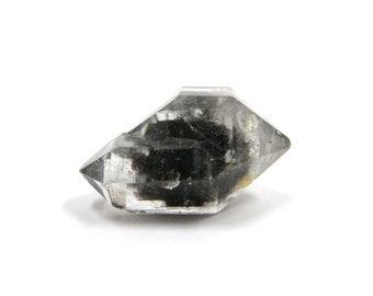Herkimer Diamond Style Tibetan Quartz Double Terminated 1 Raw Crystal 19mm x 12mm Natural Rough Stone for Jewelry Making (Lot 9257)