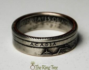 Acadia National Park Quarter Ring