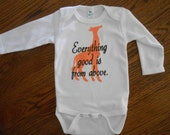 Baby Gift Idea - Onsie with Giraffe Silhouette with Beautiful Quote