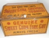 Antique Advertising Tobacco Box Cuban Tobacco Dispenser Store Counter DIsplay