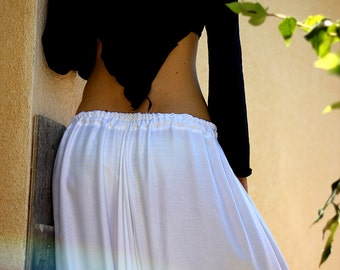 White Harem pants, Womens Tribal Fusion Belly Dance, Bellydance, Poi, Hooping, Festival wear, Big fabric choice,  Plus size