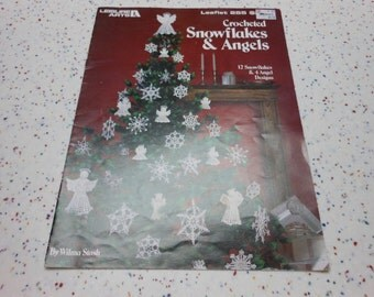 Crochet Snowflakes & Angels crochet pattern book