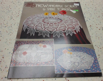 New PIneapple Doiies and Tabletoppers crochet pattern book
