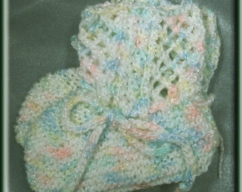 Multi-colored Knit Baby Booties - Machine Wash and Dry - Made in USA