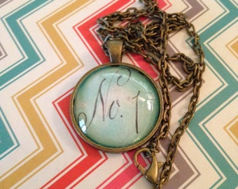 No One or Number 1, #1 in your heart Romance Pendant