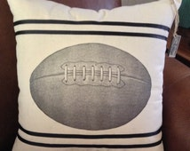 Vintage Football Pillow 20 by 20/Any Pillow Super-sized