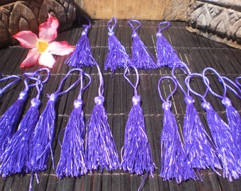 """Beautiful Hand made Tassels 3"""" inches Set Of 20 Blue/Purple"""