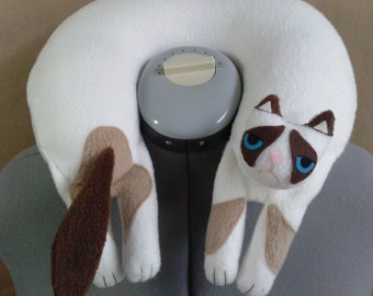 Grumpy Cat Travel Neck Pillow with embroidery RESERVED