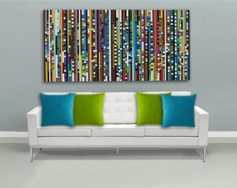 Painting ,Abstract Painting,  Modern Wall Art,Wood Wall Art, Wood Sculpture