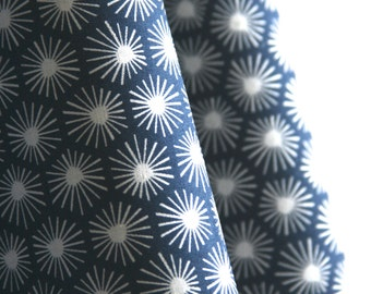 Organic Morn's Ray Fabric in Navy from Aubade Collection for Cloud 9 Fabrics - ONE  HALF YARD Cut