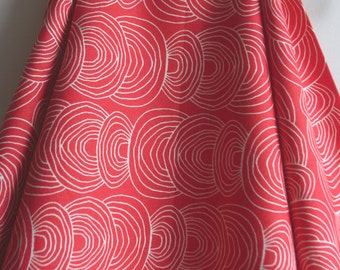 Organic Ripple CANVAS in Coral from Rain Walk Collection for Cloud 9 Fabrics - ONE YARD Cut