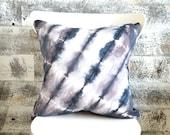 Wild Chestnut Shibori Pillow Cover 18x18 inches