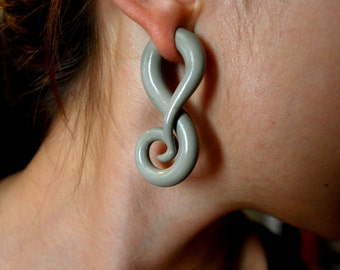 Swirly Gauged Earrings