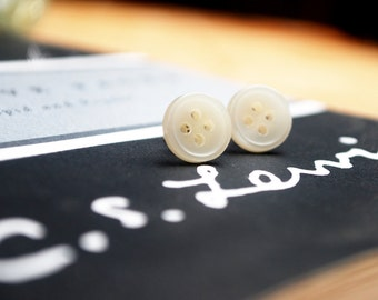 Clean Slate Button Earrings