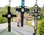 Stained GlassArt|Suncatcher|Cross|Celtic Cross|Choice of Color|Art & Collectibles|Glass Art|Suncatchers|Handcrafted|Made in USA