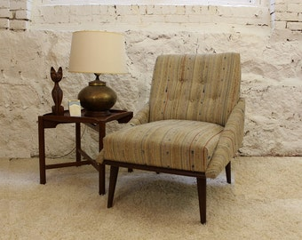 Mid Century Modern Danish Kroehler side, accent, lounge arm less chair