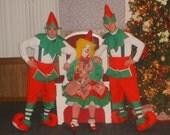Santa's Elf, Christmas Helper, Costume Delux Unisex, One Size Fits Most, Custom Made