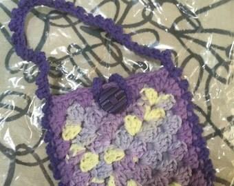 Crocheted Granny Square Purse #146
