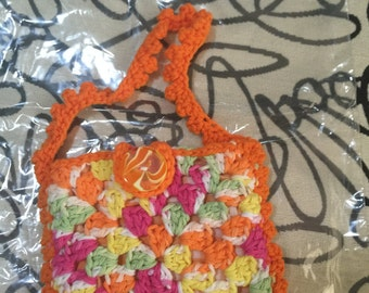 Crocheted Granny Square Purse #104