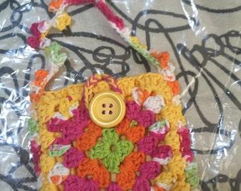 Crocheted Granny Square Purse #113