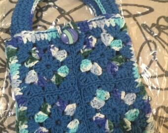 Crocheted Granny Square Purse #111