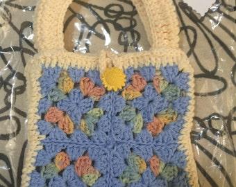 Crocheted Granny Square Purse #158