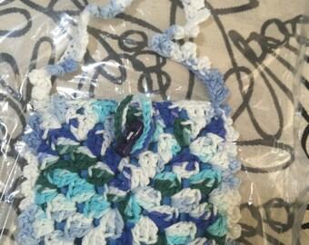 Crocheted Granny Square Purse #138