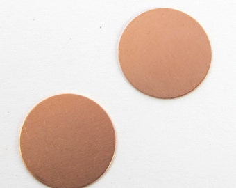 "Copper Disc 3/4"", 24G, PK of 2"