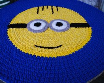 Minion rug handmade circle rug