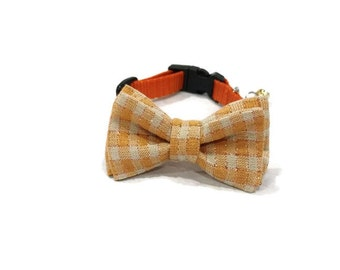Dog Collar - Plaid Bow Tie Dog Collar - Halloween Dog Collar - Thanksgiving Dog Collar - Bow Tie Dog Collar - Plaid Dog Collar