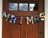 Wedding BANNER Mr and Mrs Beer theme Upcycled Recycled
