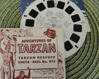 A947)  Vintage Viewmaster 975  Tarzan 1950