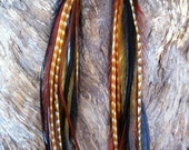 Long Feather Earrings//Aztec American Indian Inspired Long Feather Earrings//Bohemian Gypsy style