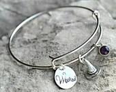 Halloween Bracelet - Witch Bracelet - Wicked Bracelet - Creepy Bangle - Witches Hat - Spooky Jewelry - Custom Charm Bracelet