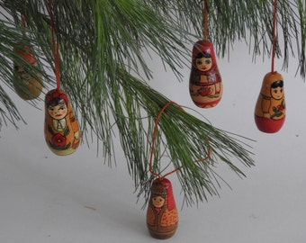 Russian Doll Ornaments- Christmas Ornaments- Tree Decor- Holiday- Gifts