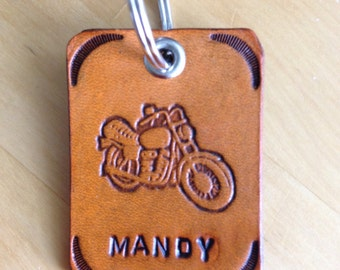 Motorcycle Key Fob Key Ring Key Chain-Love That Leather